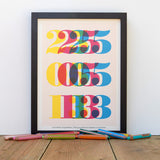 Wedding or Birthday Date (Personalized Print), Ruka-Ruka - CultureLabel