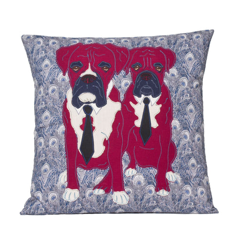 Liberty London Boxer Twins Cushion, Mia Loves Jay - CultureLabel