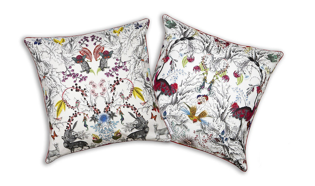 Thistle Detail Silk Cushion Cover, Kristjana S Williams - CultureLabel - 1