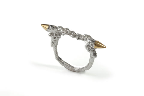 Silver Spike Thorn Ring, Ros Millar