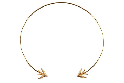 Gold Swallow Torc Necklace, Roz Buehrlen - CultureLabel