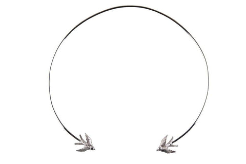 Silver Swallow Torc Necklace, Roz Buehrlen - CultureLabel - 1