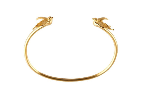 Gold Torc Bangle, Roz Buehrlen