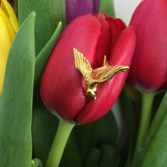 Gold Swallow Ring, Roz Buehrlen Alternate View