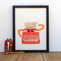 Typewriter Robot (Personalized Print), Ruka-Ruka Alternate View