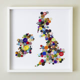 Handmade Button Map of The British Isles, Hello Geronimo - CultureLabel