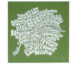 Map of Central London - Green, Ursula Hitz - CultureLabel - 1 (full image)
