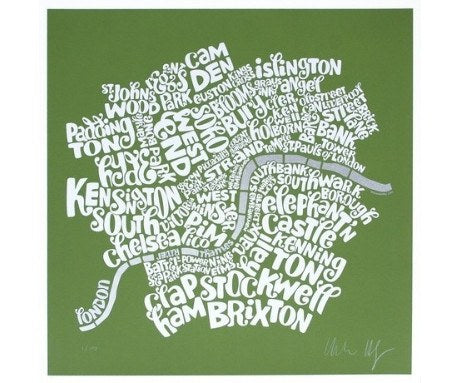 Map of Central London - Green, Ursula Hitz - CultureLabel