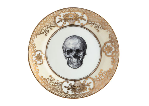 Upcycled Vintage Gold Skull Side Plate, Melody Rose - CultureLabel