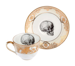 Upcycled Skull Design Gold Tea Set of Two, Melody Rose Alternate View