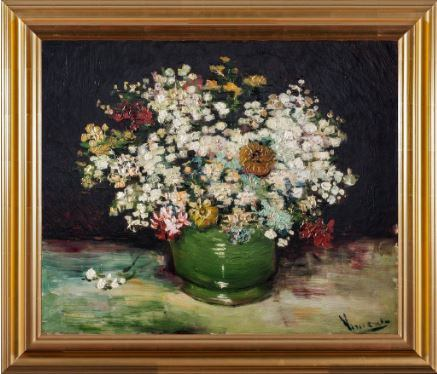 Bowl of Zinnias and Other Flowers by Vincent Van Gogh 3d Reproduction, Versus Art