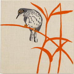Cuckoo - Embroidered Picture, Fine Cell Work