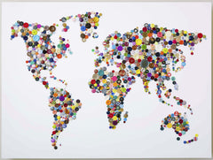 Handmade Button Map of the World, Hello Geronimo