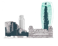 A Walk By the River: Old Billingsgate & Walkie-Talkie, Kethi Copeland Alternate View
