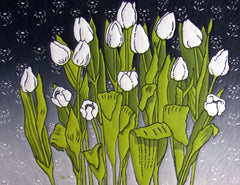 White Tulips, Diana Ashdown Alternate View