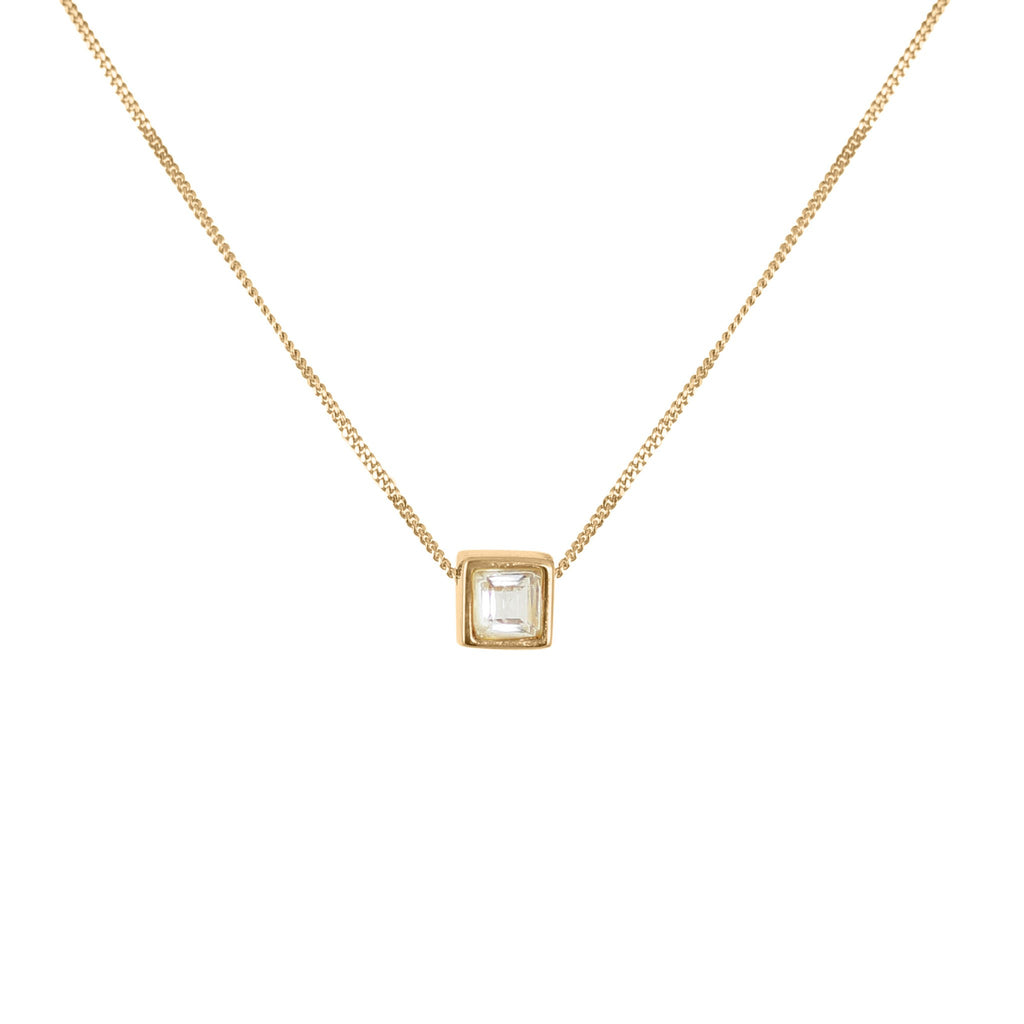 White Tourmaline Square-Cut Necklace, Lee Renée - CultureLabel - 1
