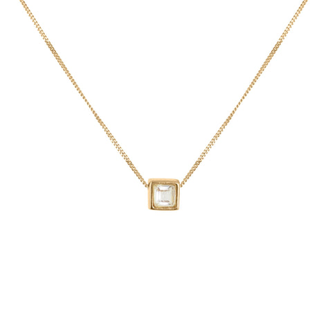 White Tourmaline Square-Cut Necklace, Lee Renée