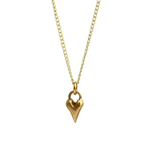 Handmade Wild at Heart Solid 9ct Gold Heart Necklace, Pretty Wild Jewellery - CultureLabel - 1
