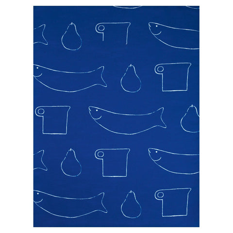 William Scott Blue Linen Table Cloth, Royal Academy of Arts - CultureLabel