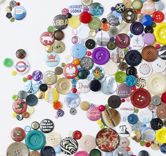 Handmade Button Map of the World, Hello Geronimo Alternate View