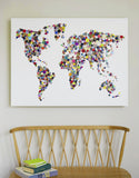 Handmade Button Map of the World, Hello Geronimo - CultureLabel