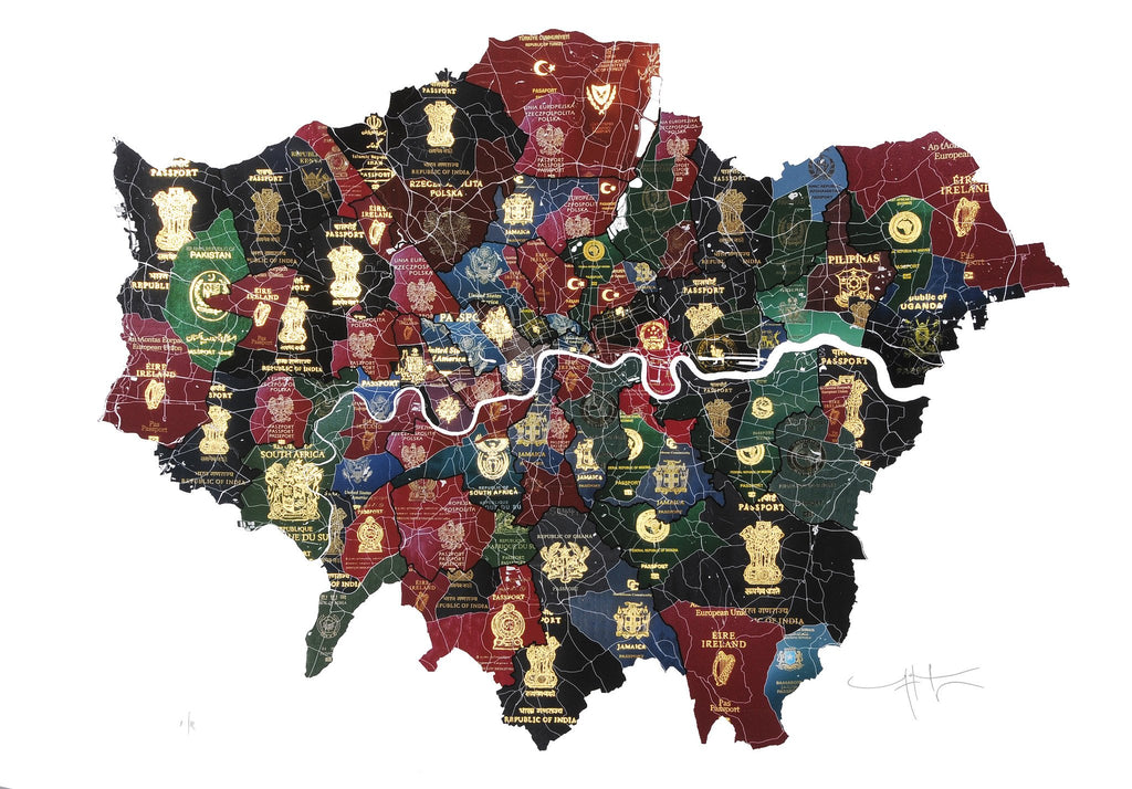 London Passport Map, Yanko Tihov - CultureLabel - 1