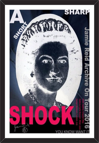 A Short Sharp Shock Tour Poster, Jamie Reid Alternate View