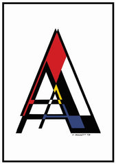 A - Z Alphabet Prints inspired by Mondrian, Manuel Bennett Alternate View