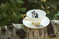Kissing Couple Tea Set of Two, Melody Rose Alternate View