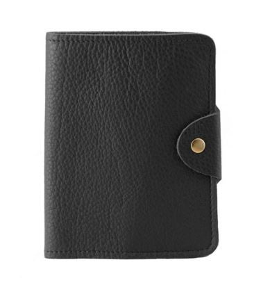 Passport Cover Black Grain, N