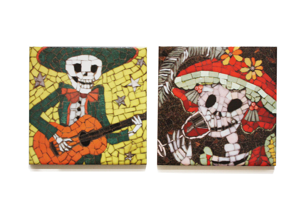 Alberto and Lucia Coaster Set, Juan is Dead - CultureLabel - 1