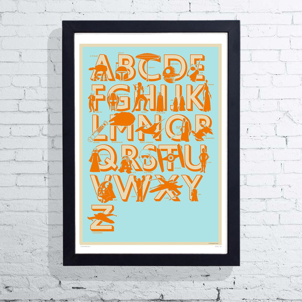 Star Wars Alphabet (Framed), The Designers Nursery - CultureLabel - 1