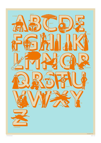 Star Wars Alphabet (Framed), The Designers Nursery Alternate View