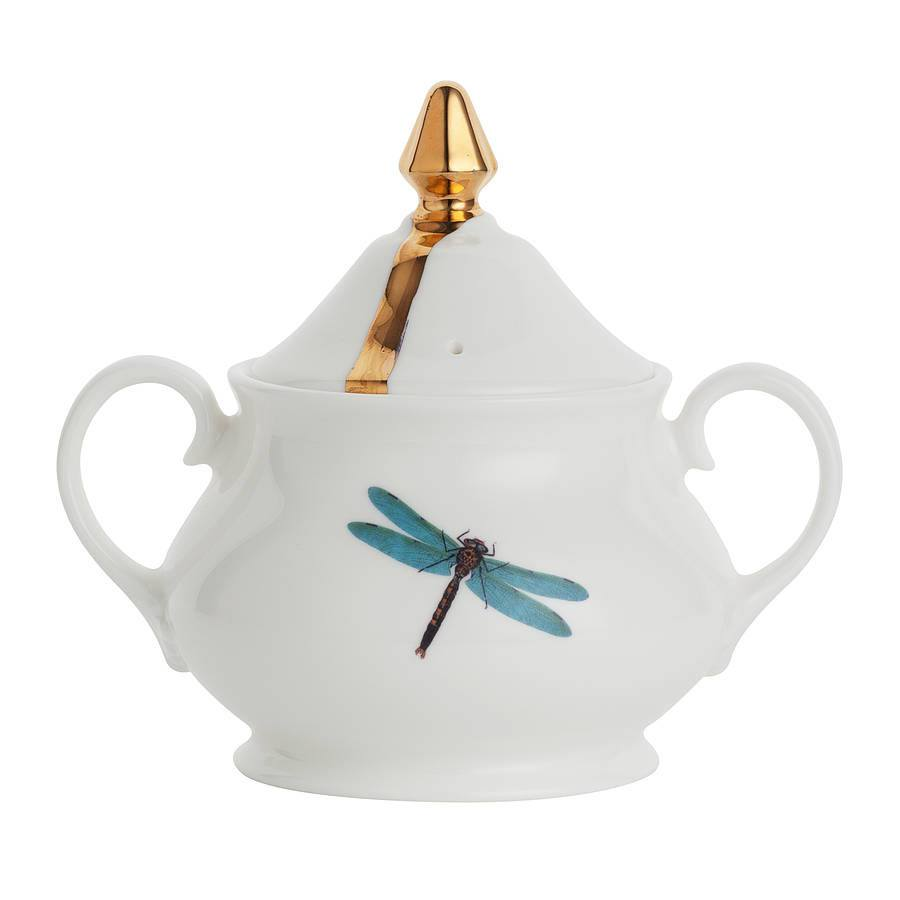 Dragonflies Sugar Bowl, Melody Rose - CultureLabel - 1