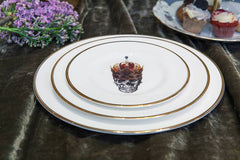 The Skull in Crown Bone China Plate, Melody Rose Alternate View
