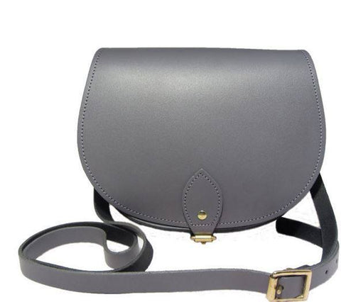 The Pencil Grey Saddle Bag, N