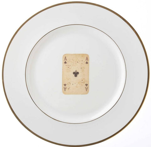 Playing Card Bone China Plate, Melody Rose - CultureLabel - 1