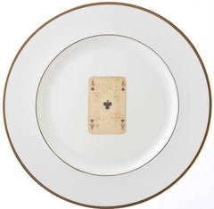 Playing Card Bone China Plate, Melody Rose
