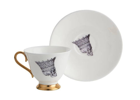 Skull Profile Jubilee Tea Set of Two, Melody Rose - CultureLabel - 1
