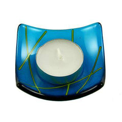Set of Four Linea Fused Glass Candle Holder, RD Glass Alternate View
