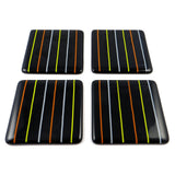 Linea Fused Glass Coaster Set of Four, RD Glass - CultureLabel - 5