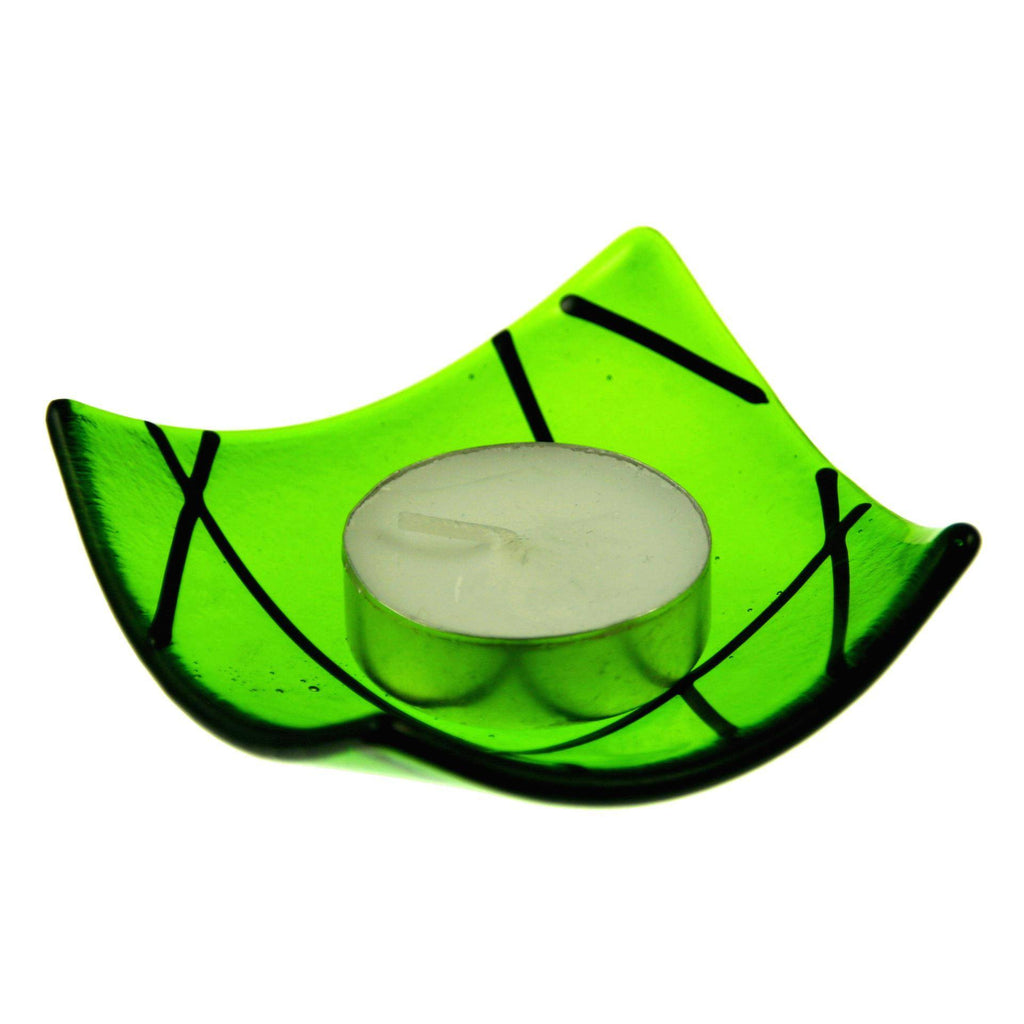 Set of Four Linea Fused Glass Candle Holder, RD Glass - CultureLabel - 1