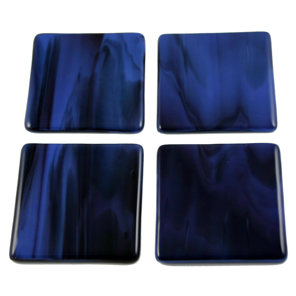Fluid Fused Glass Coaster Set of Four, RD Glass - CultureLabel - 1