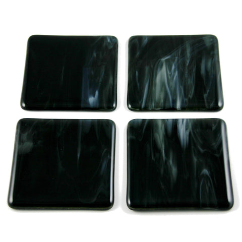 Fluid Fused Glass Coaster Set of Four, RD Glass Alternate View