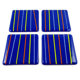 Linea Fused Glass Coaster Set of Four, RD Glass - CultureLabel - 2