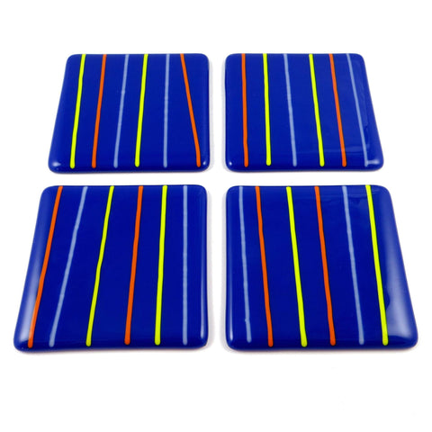 Linea Fused Glass Coaster Set of Four, RD Glass Alternate View