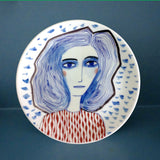 Blue Girl Plate, Katy Leigh - CultureLabel - 1