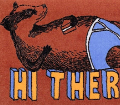 Hi There Badger Welcome Doormat, Jimbobart Alternate View