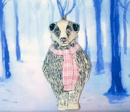 Florence Badger Christmas Tree Decoration, Jimbobart