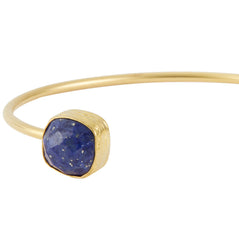 Miniature Open Square Lapis Bangle, The National Gallery Alternate View